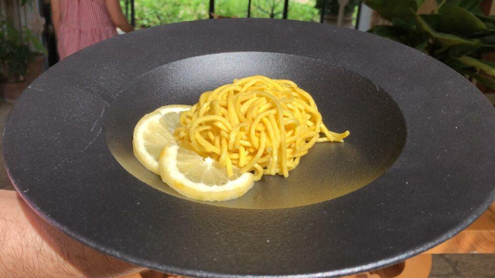 La ricetta degli spaghetti alla chitarra al limone